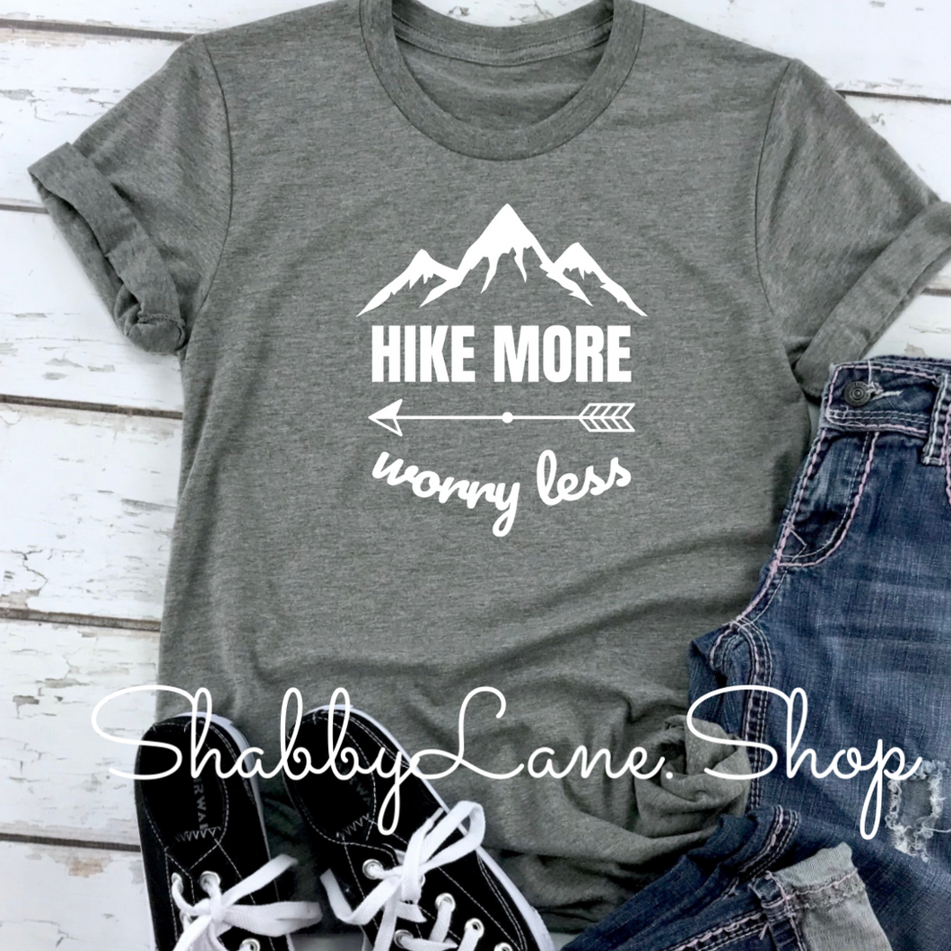 Hike More Worry Less - Heather dark Gray
