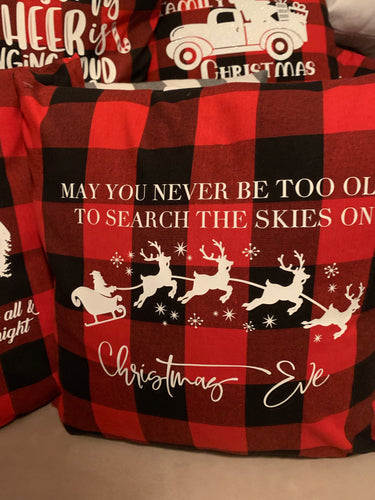 May you never be too old ... Christmas Eve red buffalo plaid