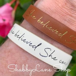 She believed she could bracelet - white