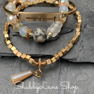 Amazing Grace bracelet trio - Gold