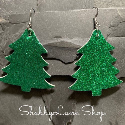 Holiday earrings glitter tree- style 6