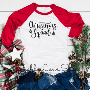 Christmas Squad- red sleeves