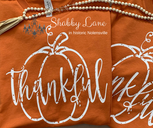 Thankful grunge pumpkin tee orange