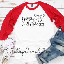 Load image into Gallery viewer, Merry Christmoose - red sleeves unisex