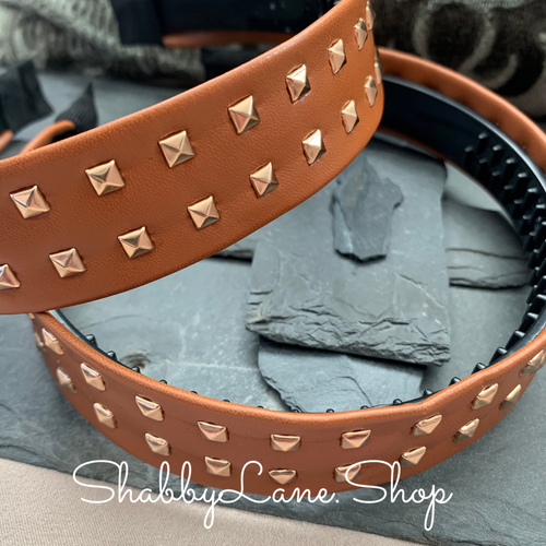 Beautiful brown faux leather headband