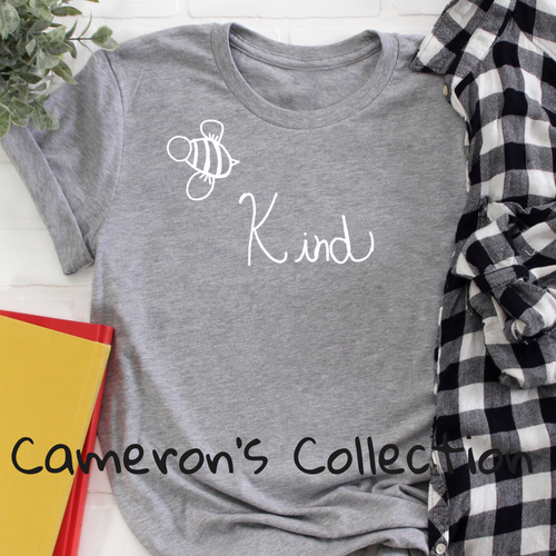 Bee Kind - Cameron Collection Heather Gray