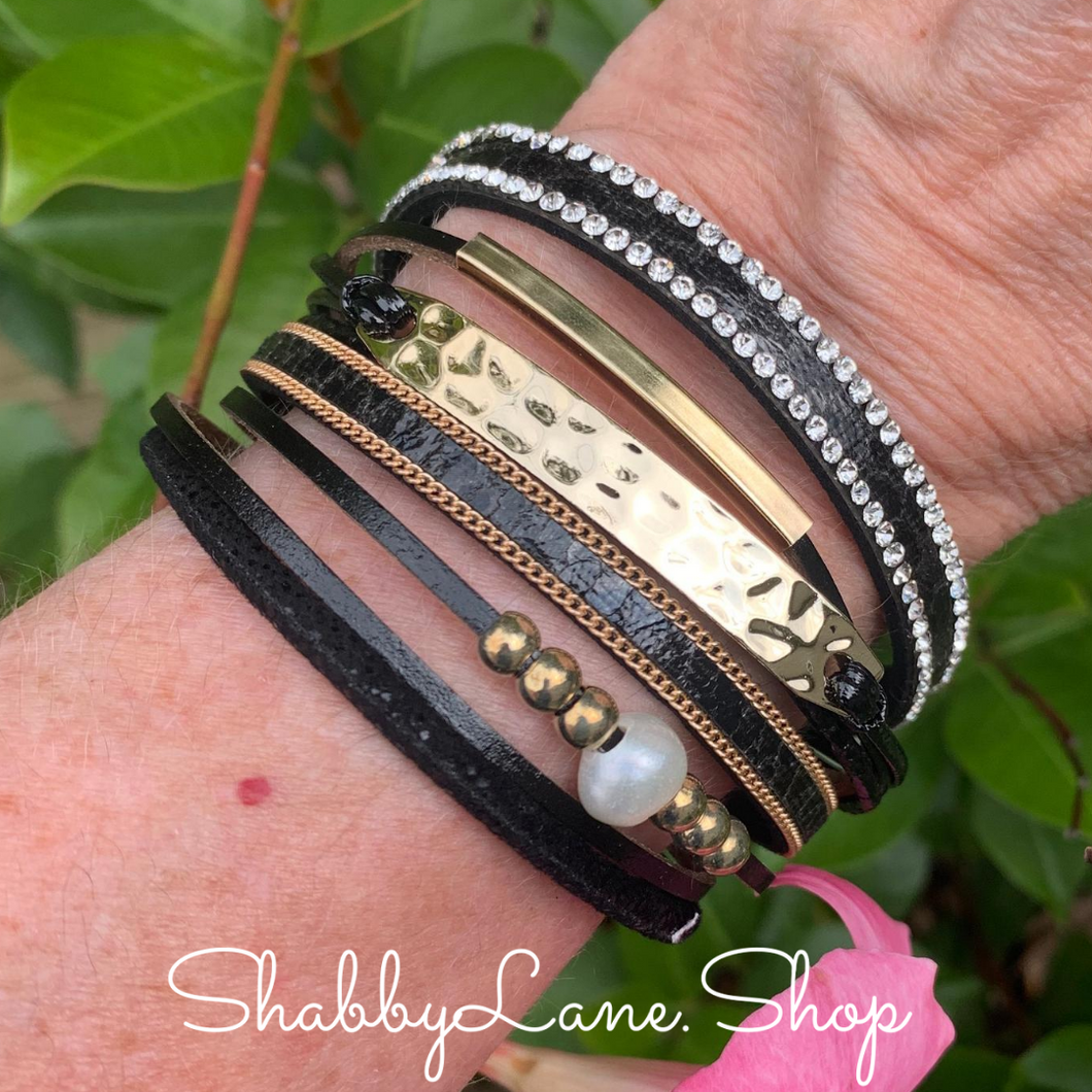 Gorgeous layered bracelet - black