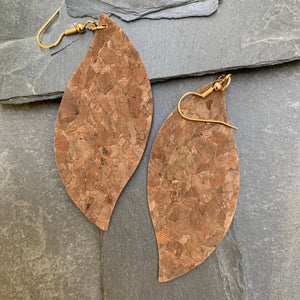 Wave Marquis earrings brown