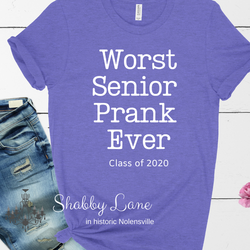 Senior Prank 2020 tee Purple