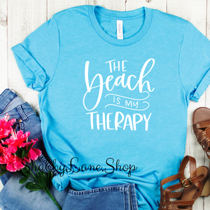 The Beach is My Therapy - Aqua T-shirt
