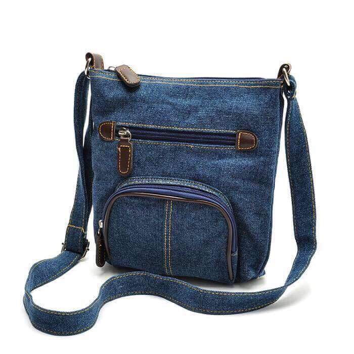 Denim cross body