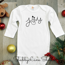 Load image into Gallery viewer, Merry Christmas Joy Christmas bodysuit- white