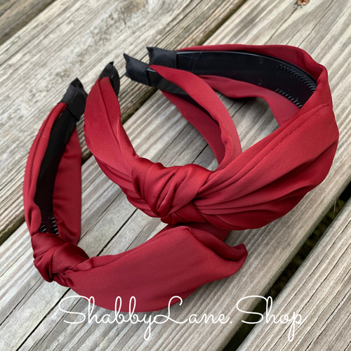 Beautiful bow headband - maroon