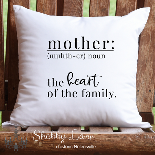 Mother's Day pillow white