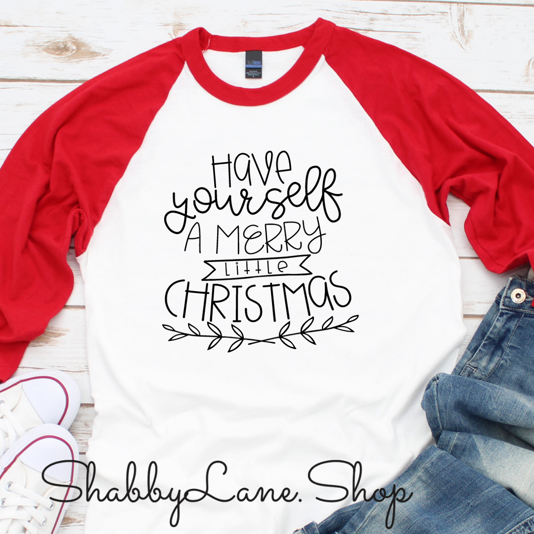 Have yourself a Merry little Christmas - red sleeves