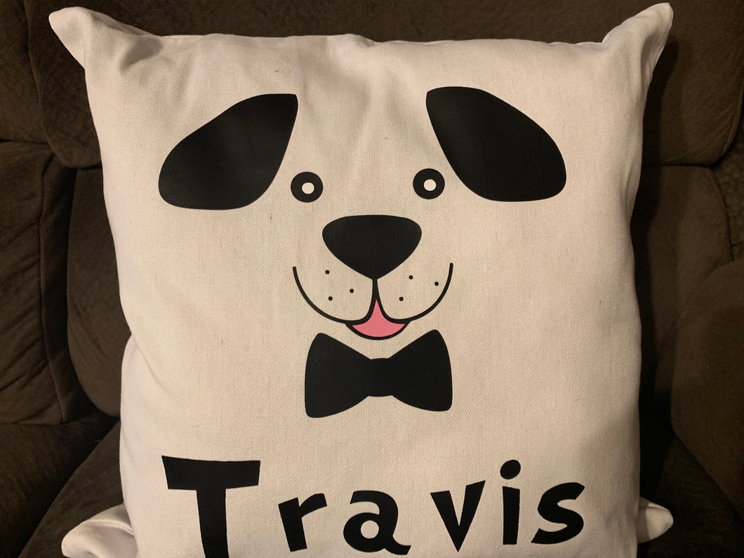 Puppy personalized Canvas pillow