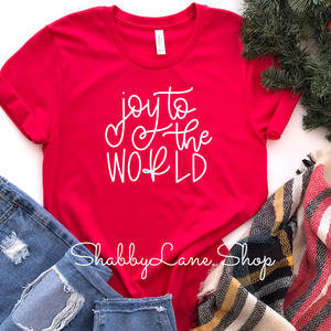 Joy to the world - Red Short Sleeve