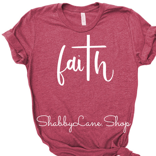 Faith raspberry tee