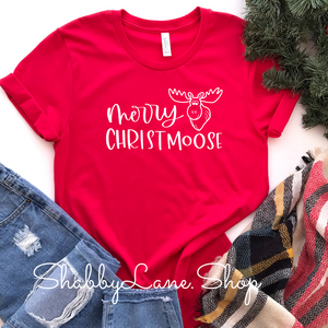 Merry Christmoose - Red Short Sleeve