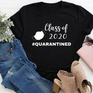 Class of 2020 #quarantined tee Black