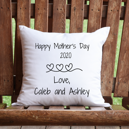 Mother's Day personalizes pillow - white pillow