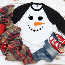 Load image into Gallery viewer, Snowman lady - black sleeves