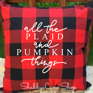All the plaid! - Red Buffalo plaid pillow