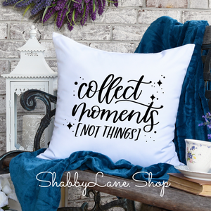 Collect Moments - white pillow