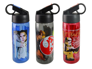 [3-Pack] Star Wars 25oz Aspen Tritan Water Bottle Sipper Ring Top, BPA-free