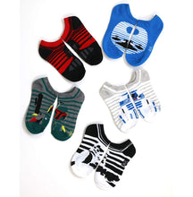 [5-Pairs] Classic Star Wars Little Boys Kids No-Show Ankle Socks, (Shoe Size 7.5-3.5)