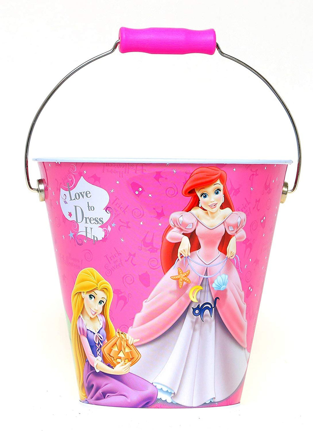 Disney Princesses Halloween Trick-Or-Treat Metal/Steel Bucket Pail