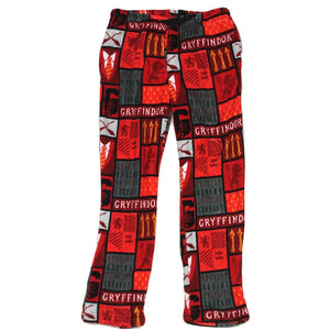 Harry Potter Gryffindor Fleece Plush Men's Lounge Sleep Pants, XL