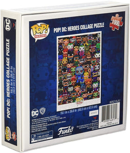 DC Comics Funko Pop Heroes Collage Jigsaw Puzzle - 1000 Pieces