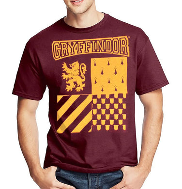 Harry Potter Hogwarts Gryffindor Crest Logo Men's T-Shirt, Maroon