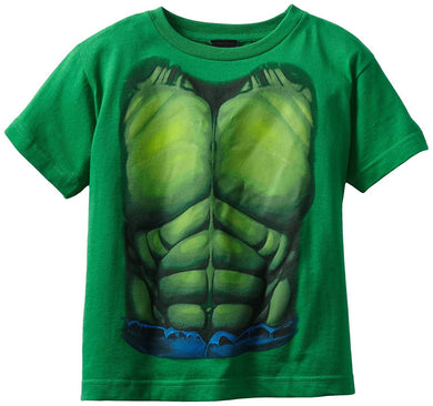 Marvel Hulk Smash Costume Chest Little Boys' T-Shirt, Kelly Green, Medium