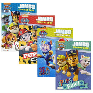 [4-Pack] Paw Patrol Jumbo 96-Page Coloring and Activity Books