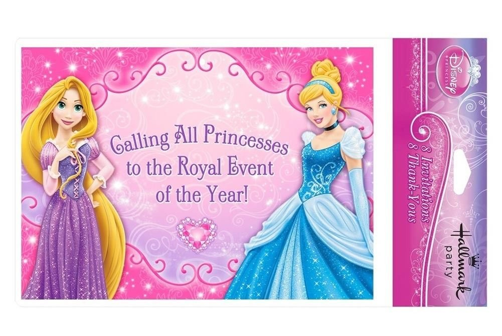 Disney Princess Dream Party 8-Pack Invitations with Thank You Cards & Envelopes