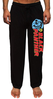Marvel The Black Panther Classic Comic Print Men's Lounge Pajama Casual Pants