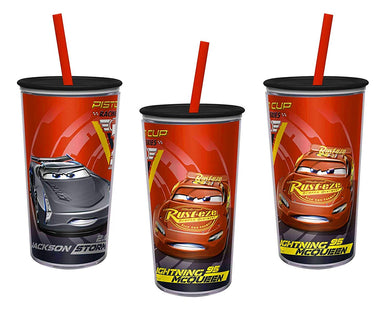 [3-Pack] Disney-Pixar's Cars 10oz Embossed Insulated Tumbler Cups, BPA-free