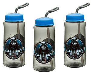 3-Pack Classic Star Wars Darth Vader, R2-D2, C-3PO 14oz Tritan Sipper Water Bottles, BPA-Free