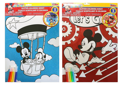 2-Pack Disney Mickey Mouse Glitter Coloring 11x15