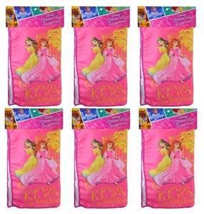 "6-Pack Disney Princess 16x16"" Microfiber Hand Towel/Kitchen Dishcloths"