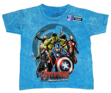 Marvel Avengers Age of Ultron Boys' Cast T-Shirt, Heat Treated Blue Turquoise