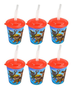 6-Pack Paw Patrol 12oz Lenticular Tumbler with Lids & Straws, BPA-Free, Reusable