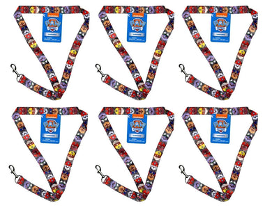 [6-Pack Set] Paw Patrol 17-inch Lanyard with Metal Keychain Clasp