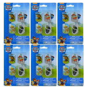[6-Packs] Paw Patrol 3pk Dog Tags Chain Necklaces, Party Favor Supplies