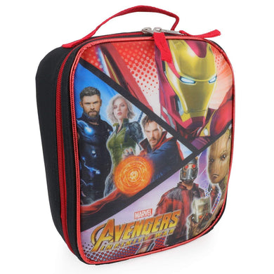 Marvel Avengers Infinity War Insulated Lunch Box Bag, Black & Red