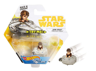 Hot Wheels Star Wars Han Solo Millennium Falcon Battle Rollers Vehicle