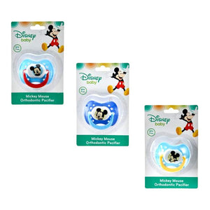 Disney Baby Mickey Mouse Rattle, Key Ring Teether and Orthodontic Pacifier 3-pc Set, BPA-Free