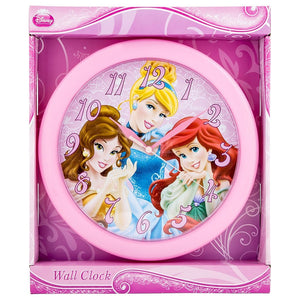 "Disney Princess 10"" Round Battery-Operated Analog Wall Clock"